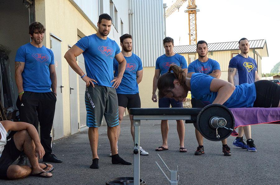 Aurore – 21 répétitions à 30 kg au Rowing Planche